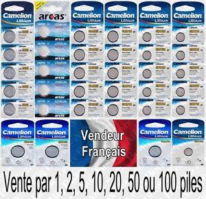 Piles boutons Camelion 3V Lithium : CR2032 CR2025 CR2016 CR1632 CR1620 CR1616