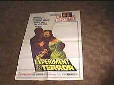 EXPERIMENT IN TERROR 1962 ORIG MOVIE POSTER LEE REMICK HORROR