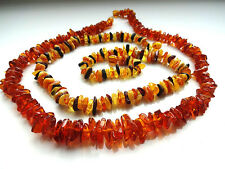 Lot- 2 Genuine Baltic Amber Beads Necklaces 17.5 inch.