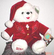 "2010 WalMART CHRISTMAS Snowflake TEDDY BEAR White Boy 20"" Red Cothes Nice NWT"
