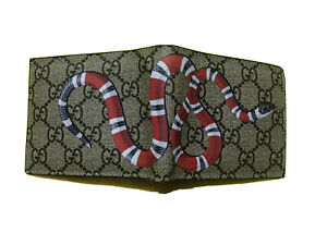 Men GG snake Leather Wallet