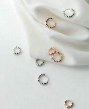 Rose Gold Plated Extra Tiny 925 Sterling Silver Hoop Earrings 7/10mm