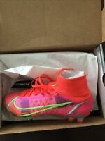 Nike Mercurial Superfly 8 Elite FG Soccer Cleats, Size 10- Bright Crimson (Red)