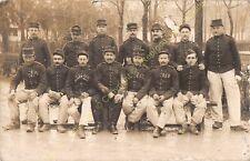 RPPC carte photo ww1 militaria soldats à Bourges circa 1914
