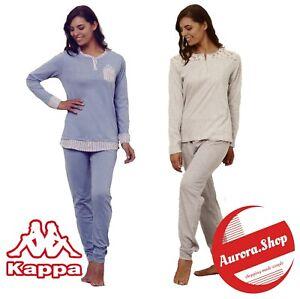 Pigiama DONNA cotone 100% manica lunga estivo KAPPA 4 varianti primaverile