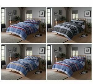 Hudson Check Duvet Cover Set Cotton Rich Quilt Covers Bedding Bed Linen