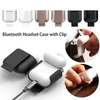 Anti Lost Bluetooth Headset Bag Protective Case Cover With Clip For Apple Airpod