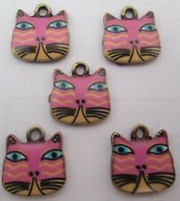 Hot sell ! 4PCS cat Pendant beaded Jewelry DIY Findings 17x17mm #8094