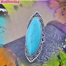 Silver Plated Turquoise Fine Rings