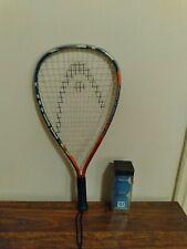 New listing Head Ti Sonic Raquetball Racquet Titanium Technology/ With 3 New Wilson Balls