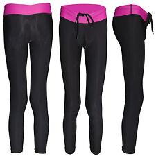 WOMEN YOGA PANTS CLOTHING WORKOUT GYM TIGHTS JOGGING 3/4 SIZE S M L XL