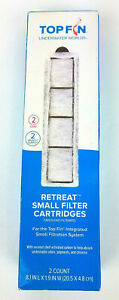 Top Fin new 2 count TF small retreat filter cartridges system two month supply.