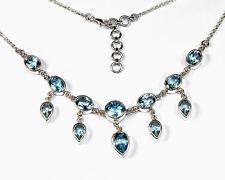 Halskette / Collier aus Silber 925 mit echtem Topas / Sterlingsilber