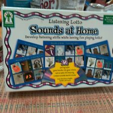 Listening Lotto Sounds at Home. Develop listening skills. for 4+ yoa. No reading