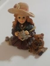 Boyds Bears & Friends Dollstone Collection Whitney With Wilson Tea Party