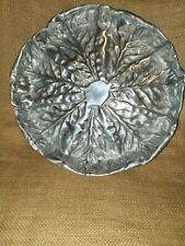 Ihi India Handicrafts Aluminum Serving Platter Dish With Beaded Handles 12 X 15