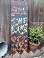 Fairground Funfair sign Circus dodgem waltzer mancave tin can alley arcade
