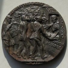More details for early english lusitania u-boat medal, english issue iron, 56mm 77.15g, propagand