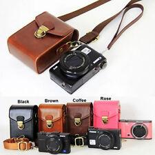 Leather Digital Camera case bag HQ for Canon SX720 SX730 G7X G9X SX610 SX620