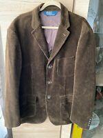Polo by Ralph Lauren Classic Corduroy Blazer Jacket Cotton Brown Size - XL