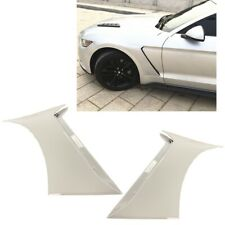For 15 20 Ford Mustang Gt350 Style Front Side Fender Hood Vent Painted White Z1 Fits Mustang