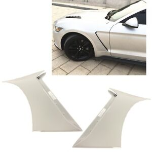 For 15-20 Ford Mustang GT350 Style Front Side Fender Hood Vent Painted White #Z1