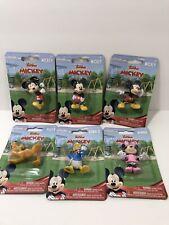 "Lot of 6 Disney Junior Mickey Mouse Mini Figures Pluto Donald Mickey Minnie 2"""