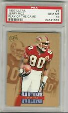 Jerry Rice 1997 Fleer Ultra Play of the Game PSA 10 GEM MINT *POP 5* 49ers HOF