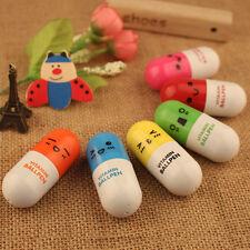 8pcs/lot Capsule Ballpoint Pen Plastic Vitamin Pill Ballpen School Stationery