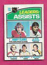 1976-77 OPC  # 2 GUY LAFLEUR / CLARKE / PERREAULT LEADERS VG CARD (INV# C3237)