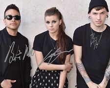 Pvris Group Signed 8X10 Photo Rp Lyndsey Gunnulfsen White Noise Lynn Gunn Fire
