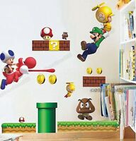 Large Super Mario Bros Wall Decal Stickers Home Art Decor Kids/Boy/Nurse​ry DIY
