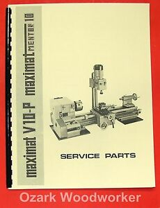 EMCO Maximat V10-P Mentor 10 Metal Lathe Parts Manual 0300