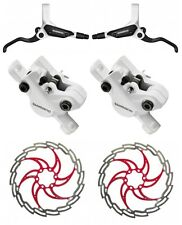 Shimano br-m 395 freno de disco blanco vr203 & hr203 mm set-XLC Tektro disc rojo