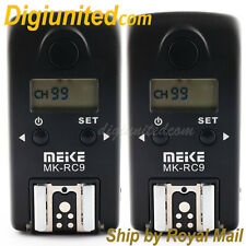 Meike MK-RC9 2.4GHz Wireless Flash Trigger for Canon 5D II III 6D 7D 50D RS-80N3