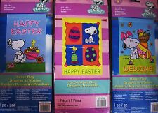 """New listing Snoopy """"Happy Easter"""" Or """"Welcome""""Large Decorative Flag 25 x 38 Nip-Choose 1"""