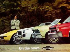 1969 Camaro Ss/1970 Corvette-Chevelle-Nova Original Ad - 350/396-V8 engine/block