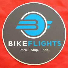 Bike Flights Sticker / Decal, Pack Ship Ride Fly Package Travel Bicycle Shipping
