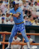 1982 BREWERS Gorman Thomas signed 8x10 photo JSA SOA AUTO Autographed Milwaukee