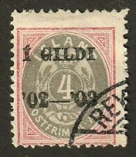 Iceland stamp #51, used, 1902-03, Black Overprint,  SCV $75