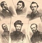 Civil War hero soldiers of Pittsburg Landing Grant Nelson 1862 historical print
