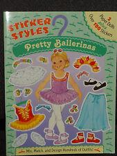 Pretty Ballerinas - 2 paper dolls, over 100 stickers