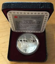 Canada 1991 Silver Dollar, KM-179, Proof, S.S. Frontenac (Box5)