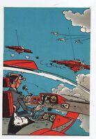 Carte Postale Trésors du Journal de Spirou n°59. Couverture allbum 77. FRANQUIN