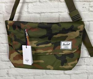 NEW Herschel Supply Company Camo Print Odell Messenger Bag
