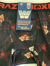 WWF WWE Wrestling Boxer Briefs The Rock Crazy Boxer Small NWT
