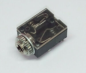 👍 Stereo Klinkeneinbaubuchse 3,5mm, MIT Schalter, Zentral- und Printmontage