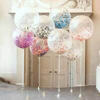 "36"" 90cm Jumbo Round Confetti Latex Wedding Balloon Bridal Shower Birthday Party"