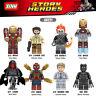 Blocksteine Spielzeug Figur Superheld Black Panther Iron Man Rider Modell 8PCS