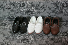 1//4MDD 1//3DD BJD Student Leather Shoes Doll Tasseled Loafers Black//White//Brown